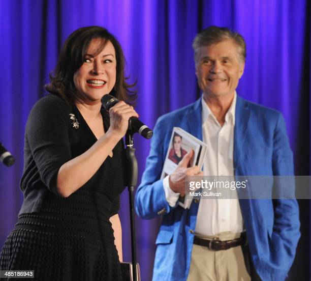 Actors Jennifer Tilly and Fred Willard during Celebrity Autobiography The Music Edition Volume 4 at The GRAMMY Museum on April 16 2014 in Los Angeles...