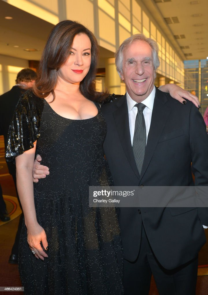 Actors Jennifer Tilly and Henry Winkler attend the 2014 Writers Guild Awards LA Ceremony at JW Marriott at LA Live on February 1 2014 in Los Angeles...