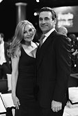 Actors Jennifer Westfeldt and Jon Hamm attend the PEOPLE Magazine Awards at The Beverly Hilton Hotel on December 18 2014 in Beverly Hills California