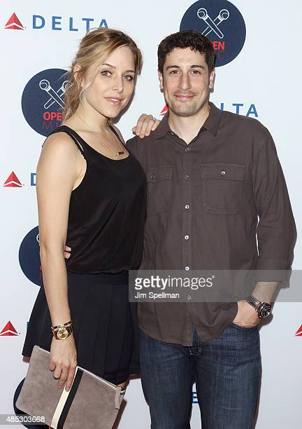 Actors Jenny Mollen and Jason Biggs attend the 2nd Annual Delta Open Mic at Arena on August 26 2015 in New York City