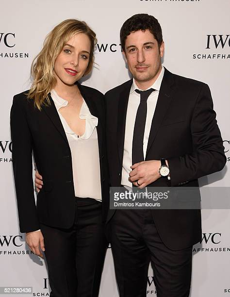 "Actors Jenny Mollen and Jason Biggs attend the exclusive gala event ""For the Love of Cinema"" during the Tribeca Film Festival hosted by luxury watch..."