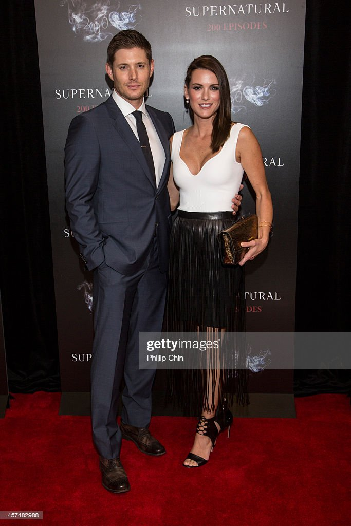 Actors Jensen Ackles and Danneel Ackles attend the 'Supernatural' 200th episode celebration at the Fairmont Pacific Rim Hotel on October 18, 2014 in Vancouver, Canada.