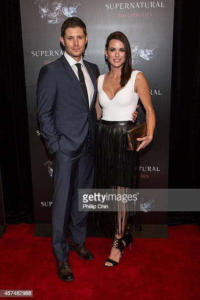 Actors Jensen Ackles and Danneel Ackles attend the 'Supernatural' 200th episode celebration at the Fairmont Pacific Rim Hotel on October 18 2014 in...