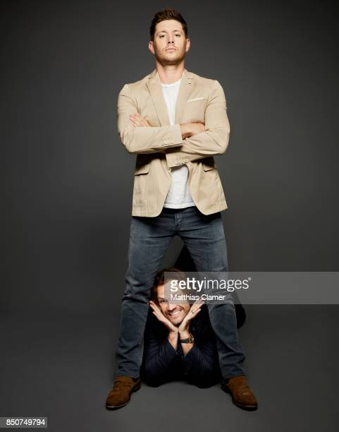 Actors Jensen Ackles and Jared Padalecki from Supernatural are photographed for Entertainment Weekly Magazine on July 21 2017 at Comic Con in San...