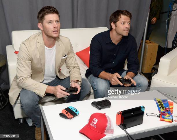 Actors Jensen Ackles and Misha Collins stopped by Nintendo at the TV Insider Lounge to check out Nintendo Switch during ComicCon International at...