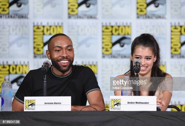 Actors Jeremie Harris and Amber Midthunder onstage at the 'Legion' screening and QA during ComicCon International 2017 at San Diego Convention Center...