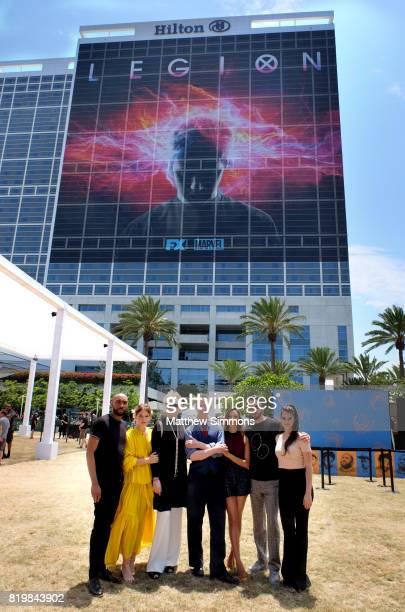 Actors Jeremie Harris Rachel Keller Jean Smart Bill Irwin Aubrey Plaza Dan Stevens and Amber Midthunder of 'Legion' attend FX Networks' FXHibition...