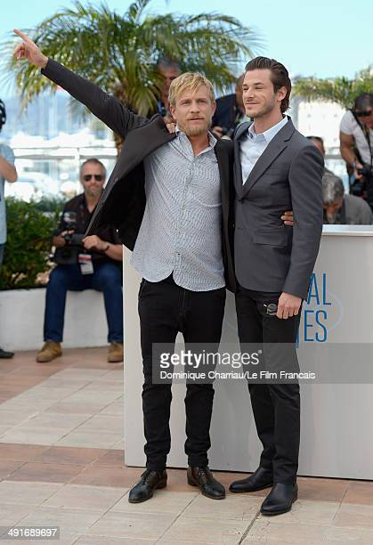 Actors Jeremie Renier and Gaspard Ulliel attend the 'Saint Laurent' photocall at the 67th Annual Cannes Film Festival on May 17 2014 in Cannes France