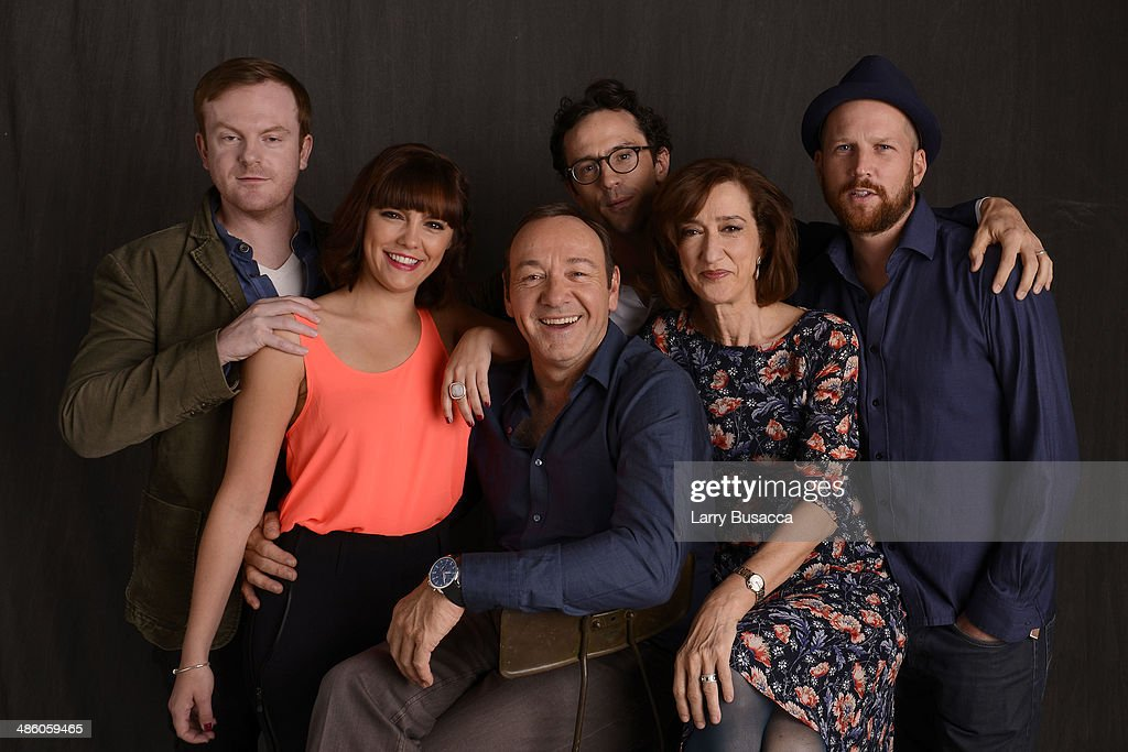 Actors Jeremy Bobb Annabel Scholey executive producer and actor Kevin Spacey actor Nathan Darrow actor Haydn Gwynne and director Jeremy Whelehan from...