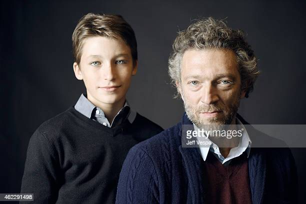 Actors Jeremy Chabriel and Vincent Cassel of 'Partisan' pose for a portrait at the Village at the Lift Presented by McDonald's McCafe during the 2015...
