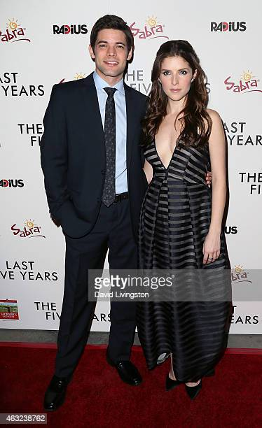 Actors Jeremy Jordan and Anna Kendrick attend the premiere of RADiUS' 'The Last Five Years' at ArcLight Hollywood on February 11 2015 in Hollywood...