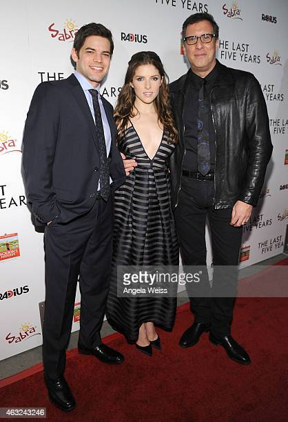 Actors Jeremy Jordan Anna Kendrick and director Richard LaGravenese attend the premiere of RADiUS' 'The Last Five Years' at ArcLight Hollywood on...