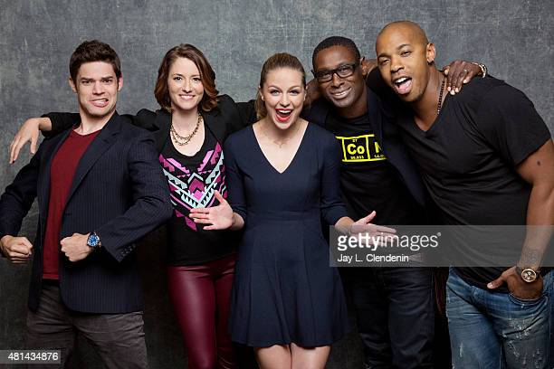 Actors Jeremy Jordan Chyler Leigh Melissa Benoist David Horewood and Mehcad Brooks of 'Supergirl' pose for a portrait at ComicCon International 2015...