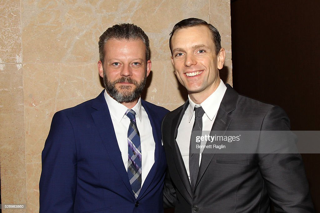 Actors Jeremy Kushnier and Paul Alexander Nolan arrive at the 31st Annual Lucille Lortel Awards at NYU Skirball Center on May 1, 2016 in New York City.