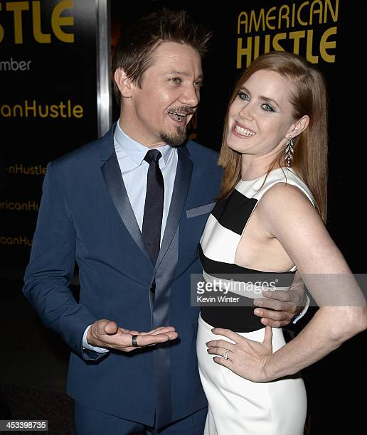Actors Jeremy Renner and Amy Adams attend Columbia Pictures And Annapurna Pictures' 'American Hustle' Special Screening at Directors Guild Of America...