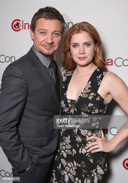 Actors Jeremy Renner and Amy Adams attend the CinemaCon 2016 Gala Opening Night Event Paramount Pictures Highlights its 2016 Summer and Beyond Films...