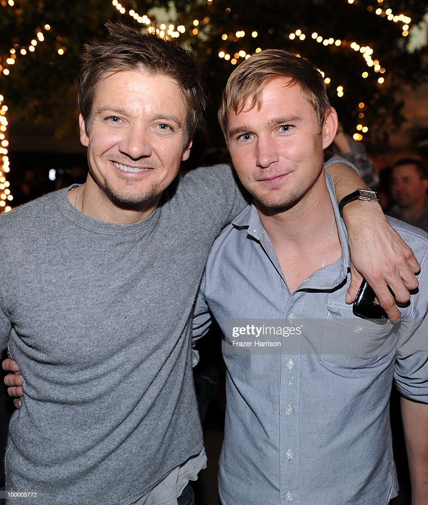 Actors Jeremy Renner and Brian Geraghty attend the 11th annual Maxim Hot 100 Party with Harley-Davidson, ABSOLUT VODKA, Ed Hardy Fragrances, and ROGAINE held at Paramount Studios on May 19, 2010 in Los Angeles, California.