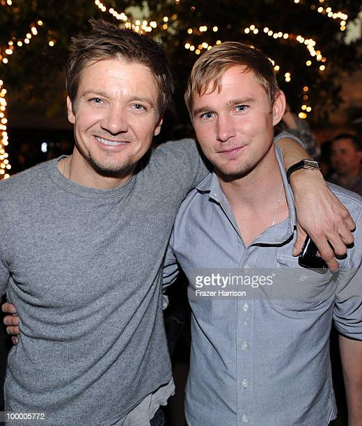 Actors Jeremy Renner and Brian Geraghty attend the 11th annual Maxim Hot 100 Party with HarleyDavidson ABSOLUT VODKA Ed Hardy Fragrances and ROGAINE...
