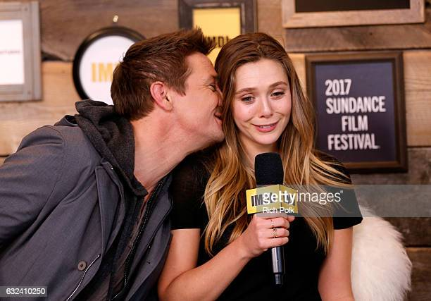 Actors Jeremy Renner and Elizabeth Olsen of 'Wind River' attend The IMDb Studio featuring the Filmmaker Discovery Lounge presented by Amazon Video...