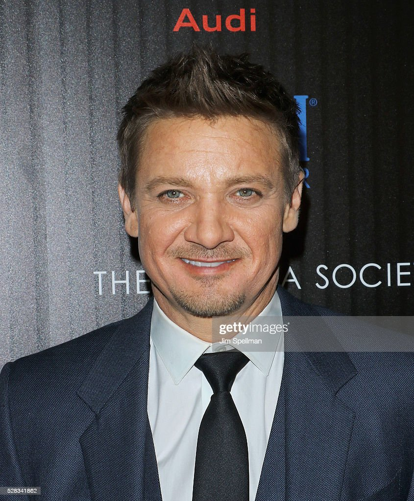 Actors <a gi-track='captionPersonalityLinkClicked' href=/galleries/search?phrase=Jeremy+Renner&family=editorial&specificpeople=708701 ng-click='$event.stopPropagation()'>Jeremy Renner</a> attends the screening of Marvel's 'Captain America: Civil War' hosted by The Cinema Society with Audi & FIJI at Brookfield Place on May 4, 2016 in New York City.