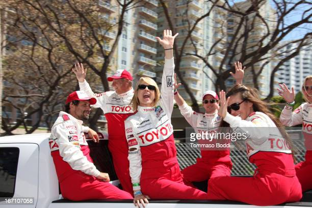 Actors Jeremy Sisto Jenna Elfman Jackson Rathbone and Kate Del Castillo attend the 37th Annual Toyota ProCelebrity Race on April 20 2013 in Long...