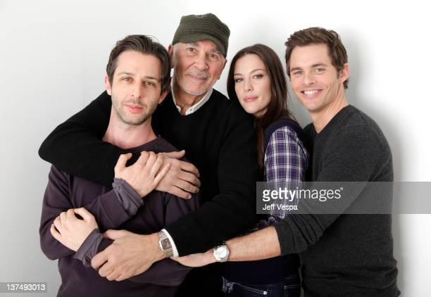 Actors Jeremy Strong Frank Langella Liv Tyler and James Marsden pose for a portrait during the 2012 Sundance Film Festival at the WireImage Portrait...