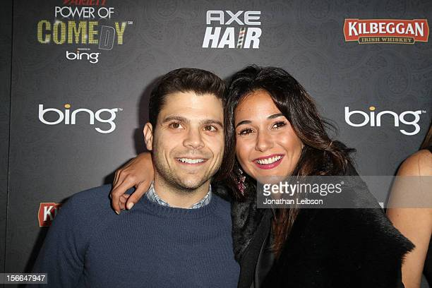 Actors Jerry Ferrara and Emmanuelle Chriqui arrive at Variety's 3rd annual Power of Comedy event presented by Bing benefiting the Noreen Fraser...