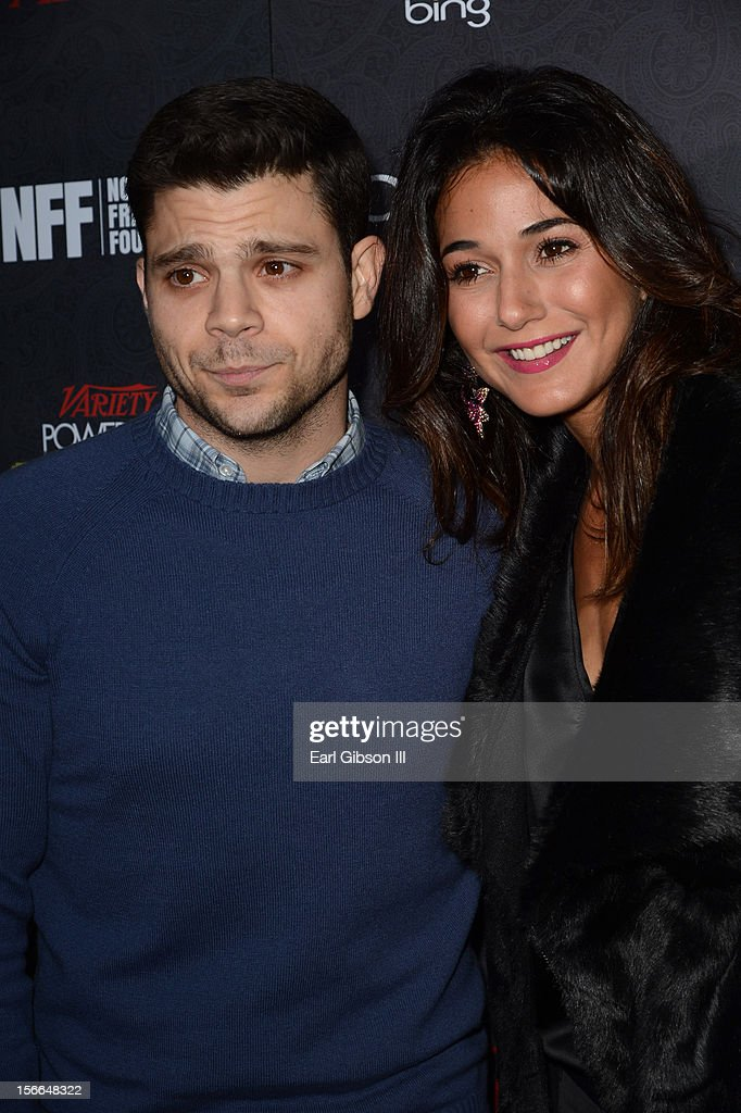 Actors Jerry Ferrara (L) and Emmanuelle Chriqui arrive at Variety's 3rd annual Power of Comedy event presented by Bing benefiting the Noreen Fraser Foundation held at Avalon on November 17, 2012 in Hollywood, California.