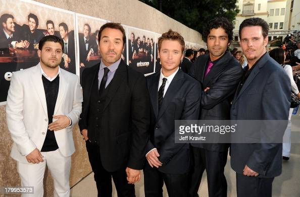 Actors Jerry Ferrara Jeremy Piven Kevin Connolly Adrian Grenier and Kevin Dillon arrive on the red carpet to HBO's official premiere of Entourage...