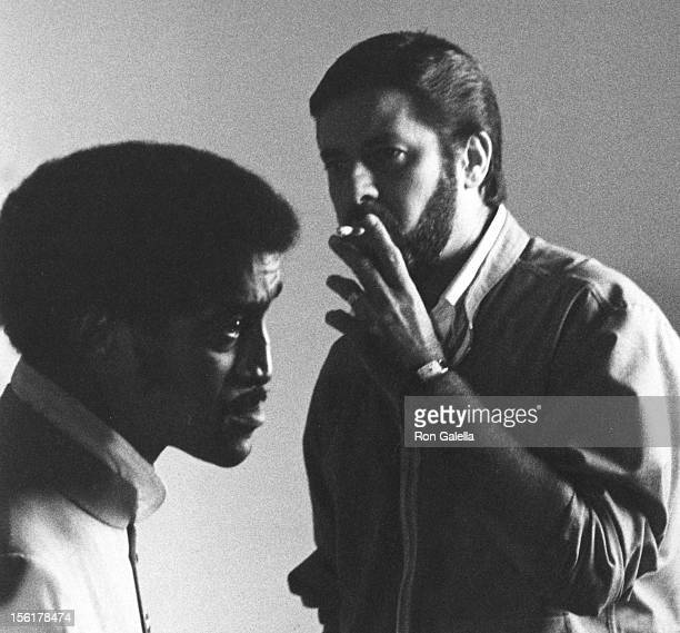 Actors Jerry Lewis and Sammy Davis Jr sighted on location filming 'One More Time' on September 9 1969 in London England