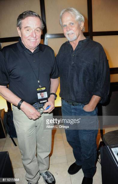 Actors Jerry Mathers and Tony Dow signs autographs at The Hollywood Show held at Westin LAX Hotel on July 8 2017 in Los Angeles California