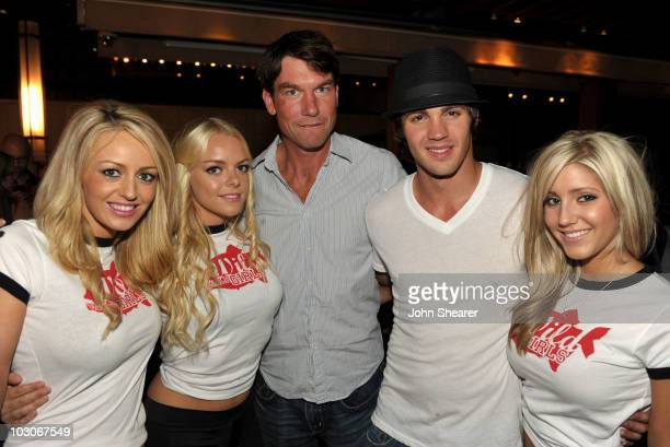 Actors Jerry O'Connell Steven R McQueen and the Wild Wild Wild Girls attend the Pirahna 3D 'Too Hot For ComicCon' party sponsored by Real D 3D and...