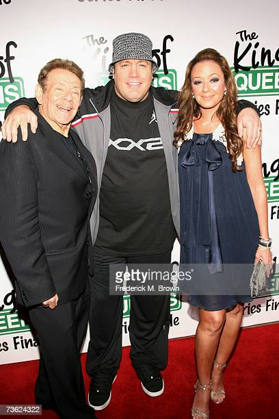 Actors Jerry Stiller and Kevin James and actress Leah Remini attend 'The King of Queens' final season wrap party at Boulevard 3 on March 17 2007 in...