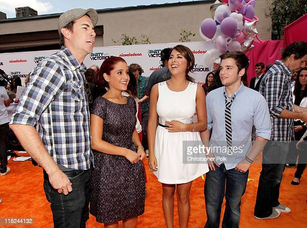 nathan kress wife. actors jerry trainor ariana grande daniella monet and nathan kress arrive at nickelodeon\u0027s exclusive premiere for wife