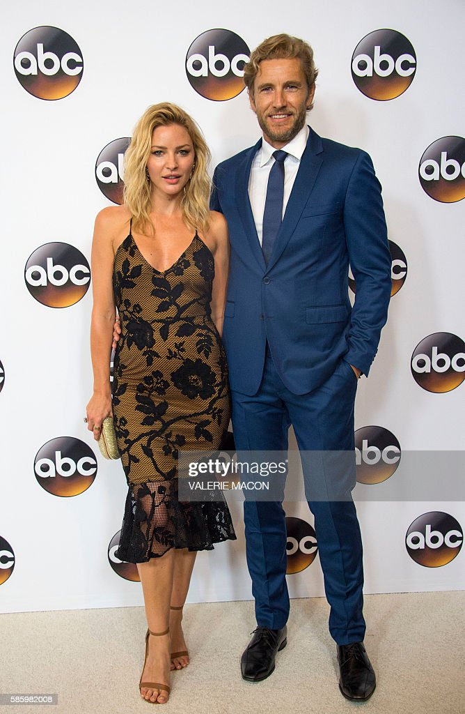 Actors Jes Macallan and Brett Tucker attends The 2016 Disney ABC Television Group TCA Summer Press Tour in Beverly Hills California on August 4 2016...