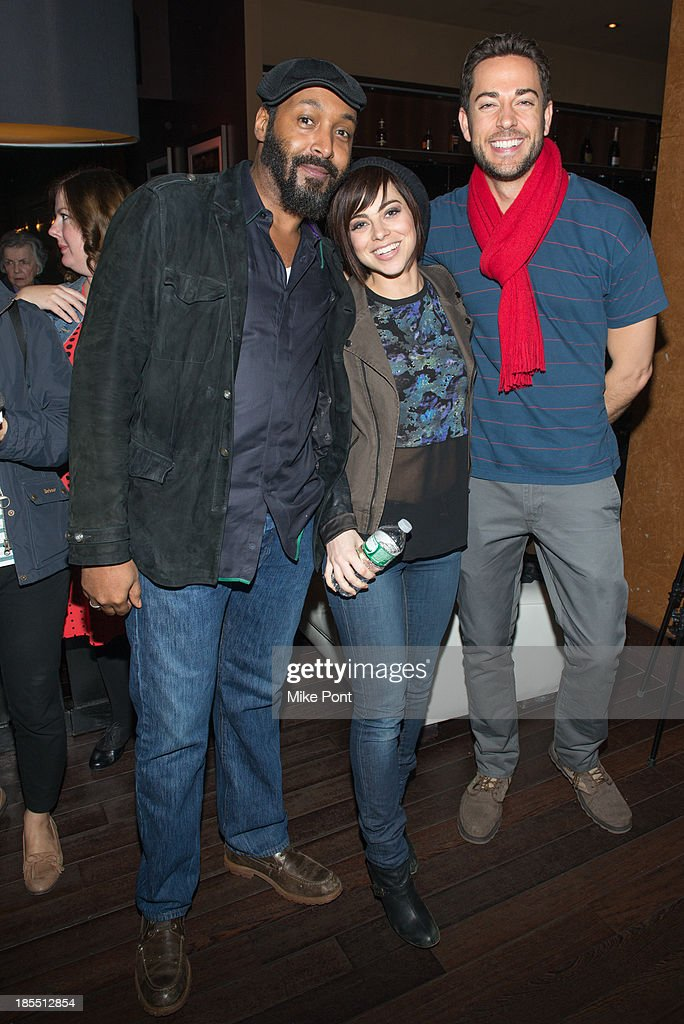 Actors <a gi-track='captionPersonalityLinkClicked' href=/galleries/search?phrase=Jesse+L.+Martin&family=editorial&specificpeople=227044 ng-click='$event.stopPropagation()'>Jesse L. Martin</a>, <a gi-track='captionPersonalityLinkClicked' href=/galleries/search?phrase=Krysta+Rodriguez&family=editorial&specificpeople=5356530 ng-click='$event.stopPropagation()'>Krysta Rodriguez</a>, and <a gi-track='captionPersonalityLinkClicked' href=/galleries/search?phrase=Zachary+Levi&family=editorial&specificpeople=242766 ng-click='$event.stopPropagation()'>Zachary Levi</a> attend the Paul Rudd 2nd Annual All-Star Bowling Benefit at Lucky Strike on October 21, 2013 in New York City.