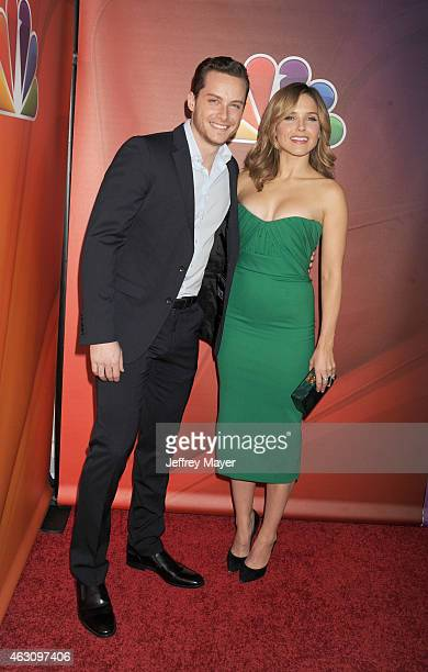 Actors Jesse Lee Soffer and and Sophia Bush attend the NBCUniversal 2015 Press Tour at the Langham Huntington Hotel on January 16 2015 in Pasadena...