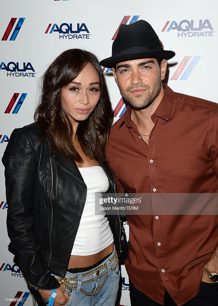 Actors Jesse Metcalfe and Cara Santana attend a private event at Hyde Lounge for the Bruno Mars & Ellie Goulding concert hosted by AQUAhydrate at The Staples Center on July 27, 2013 in Los Angeles, California.
