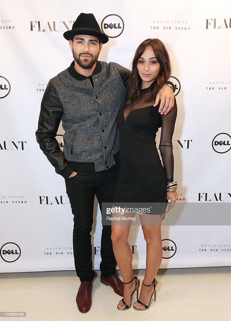 Actors Jesse Metcalfe (L) and Cara Santana attend Flaunt Magazine and David Lynch celebrate the Shared Releases Of Context Issue and The Big Dream at an event powered by Dell at mmhmmm at The Standard, Hollywood on July 11, 2013 in Hollywood, California.