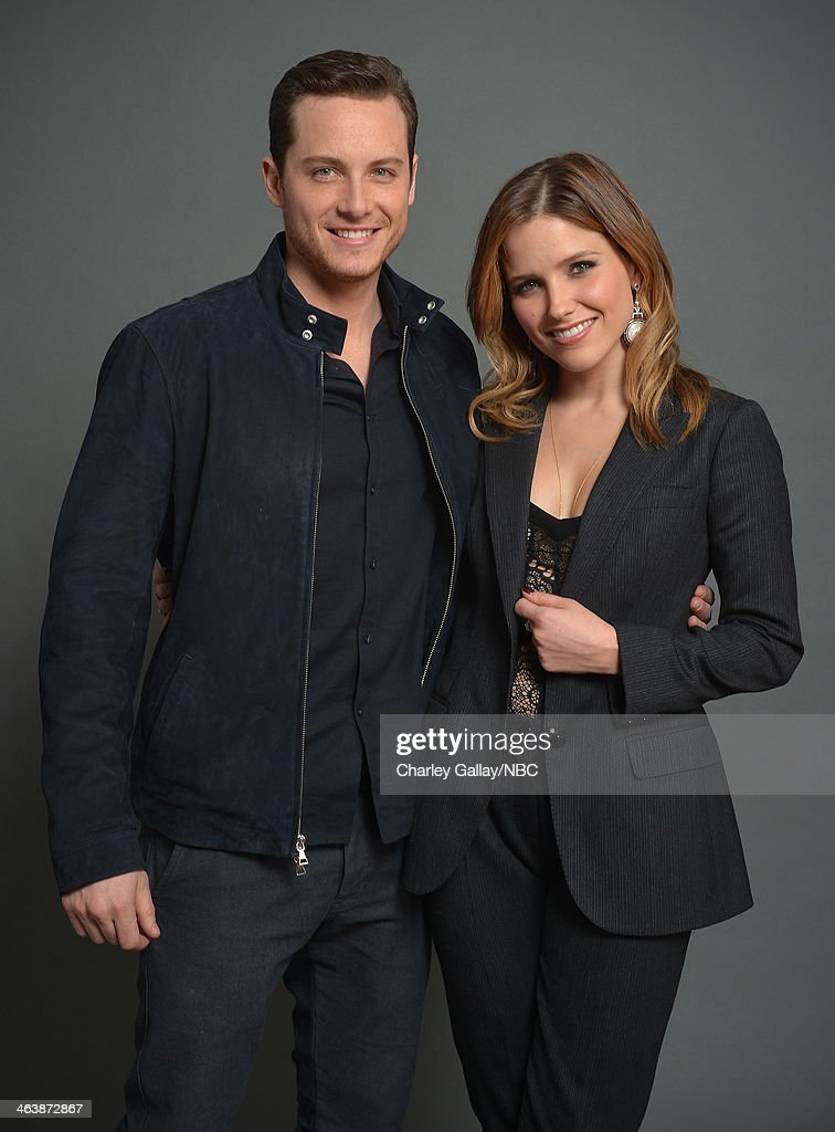 Actors Jesse Soffer (L) and <a gi-track='captionPersonalityLinkClicked' href=/galleries/search?phrase=Sophia+Bush&family=editorial&specificpeople=203180 ng-click='$event.stopPropagation()'>Sophia Bush</a> attend the 2014 NBCUniversal TCA Winter Press Tour Portraits at Langham Hotel on January 19, 2014 in Pasadena, California.