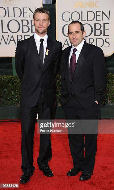 Actors Jesse Spencer and Peter Jacobson arrive at the 67th Annual Golden Globe Awards held at The Beverly Hilton Hotel on January 17 2010 in Beverly...