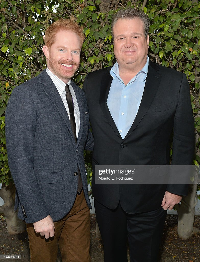 Actors <a gi-track='captionPersonalityLinkClicked' href=/galleries/search?phrase=Jesse+Tyler+Ferguson&family=editorial&specificpeople=633114 ng-click='$event.stopPropagation()'>Jesse Tyler Ferguson</a> and <a gi-track='captionPersonalityLinkClicked' href=/galleries/search?phrase=Eric+Stonestreet&family=editorial&specificpeople=6129010 ng-click='$event.stopPropagation()'>Eric Stonestreet</a> attend a 'Modern Family' Wedding episode screening at Zanuck Theater at 20th Century Fox Lot on May 19, 2014 in Los Angeles, California.