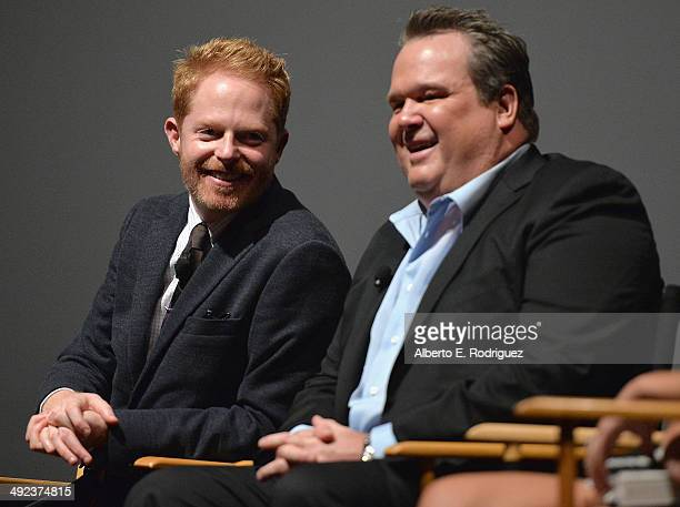 Actors Jesse Tyler Ferguson and Eric Stonestreet attend a 'Modern Family' Wedding episode screening at Zanuck Theater at 20th Century Fox Lot on May...
