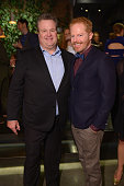 Actors Jesse Tyler Ferguson and Eric Stonestreet attend the Entertainment Weekly ABC Upfronts Party at Toro on May 13 2014 in New York City