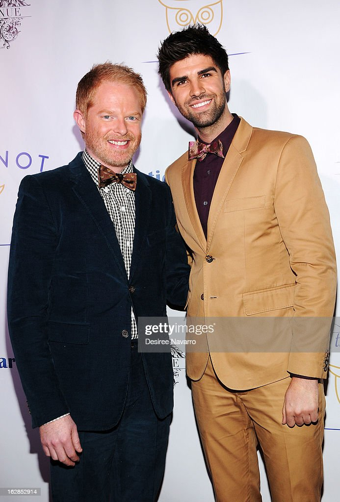 Actors Jesse Tyler Ferguson and Justin Mikita attend Tie The Knot NYC at Avenue on February 27, 2013 in New York City.