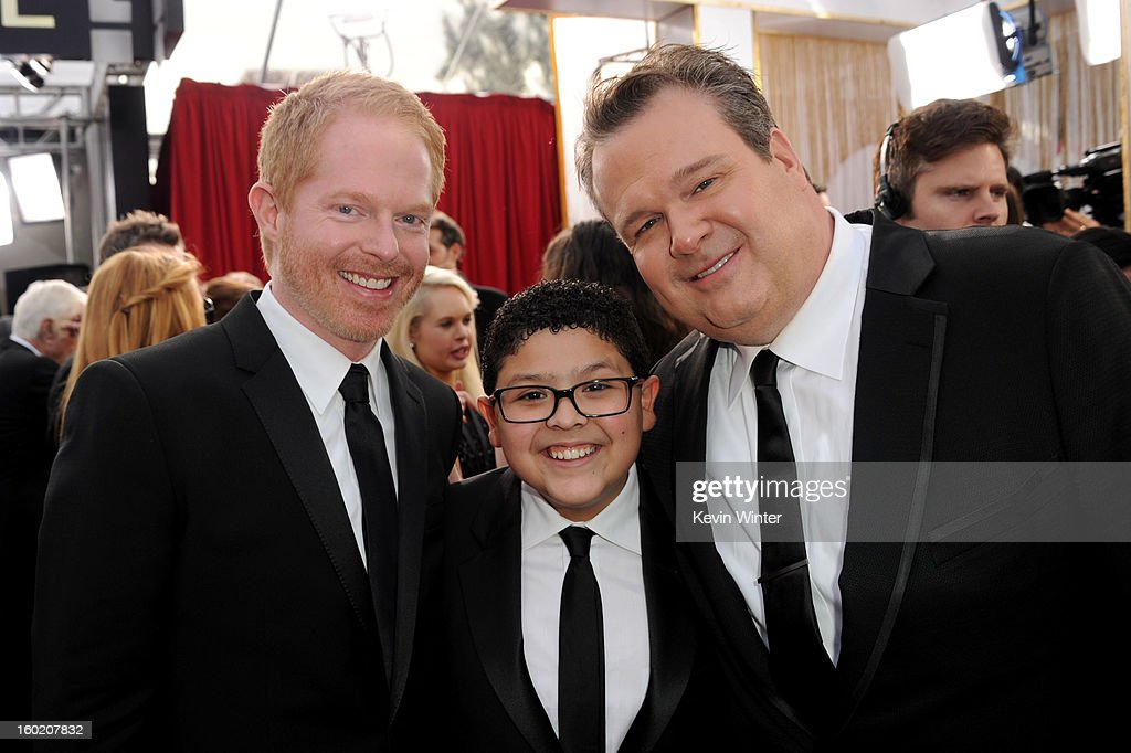 Actors Jesse Tyler Ferguson, Rico Rodriguez and Eric Stonestreet attend the 19th Annual Screen Actors Guild Awards at The Shrine Auditorium on January 27, 2013 in Los Angeles, California. (Photo by Kevin Winter/WireImage) 23116_017_0686.JPG