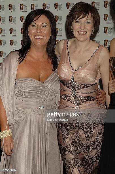 Actors Jesse Wallace and Kacey Ainsworth pose in the Awards Room at the Pioneer British Academy Television Awards 2006 at the Grosvenor House Hotel...