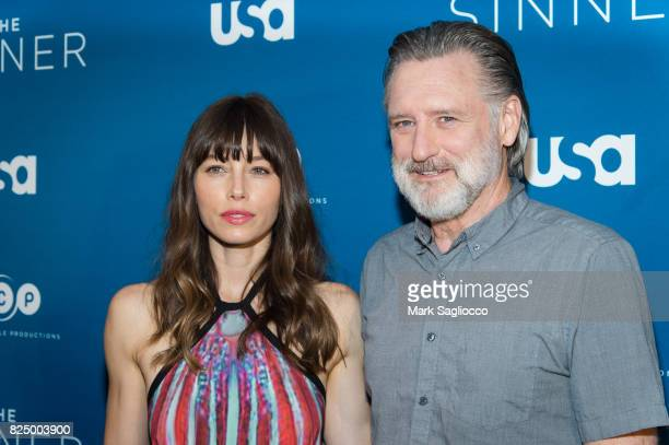Actors Jessica Biel and Bill Pullman attend the 'The Sinner' Series Premiere Screening at the Crosby Street Hotel on July 31 2017 in New York City