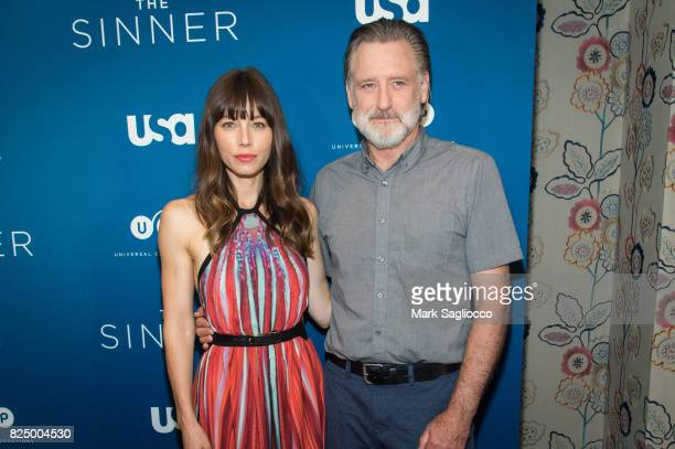 Actors Jessica Biel and Bill Pullman attends the 'The Sinner' Series Premiere Screening at the Crosby Street Hotel on July 31 2017 in New York City