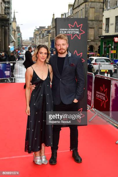 Actors Jessica Brown Findlay and Jack Lowden attend the world premiere for 'England is mine' and closing event of the 71st Edinburgh International...